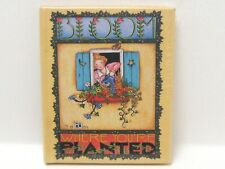 """Mini Book by Mary Engelbreit """" Bloom Where You'Re Planted"""" Original Wrapper!"""