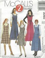 McCall's 3392 Misses'/Miss Petite Jumpers   Sewing Pattern