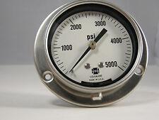 """Pressure Gauge 153069 P551LX 2 1/2"""" 5000 PSI 1/4"""" LBM"""