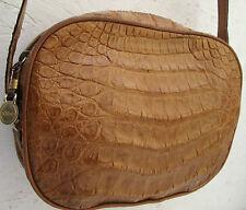 -AUTHENTIQUE  sac à main  CHLOÉ  croco véritable TBEG  bag vintage 70's