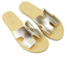 Greek Handmade Sandals Ancient Style Genuine Leather Women Shoes PLATFORM Slide