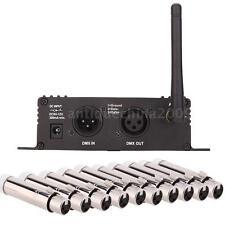 2.4G Wireless DMX512 Controller Transmitter Receiver w/ 10pcs Female Receiver EU
