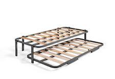 Cama Nido con 2 somieres estructura reforzada doble barra superior + 6 patas