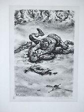 A. PAUL WEBER, Original Lithographie 1969/86, Nachlass, ZWEIKAMPF