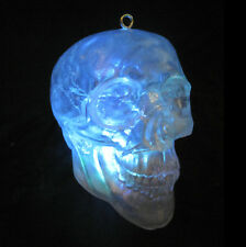 """Lighted Color Changing Crystal Human Skull Haunted House Halloween Party Prop 6"""""""