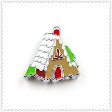 10pcs Gingerbread House Floating charms For Glass living memory Locket FC326