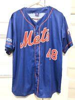 New York Mets Mens Size XL Jacob deGrom Blue Jersey SGA Stadium Giveaway