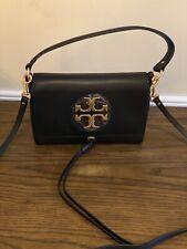 NWT Tory Burch Black Leather Mini Miller Crossbody Handbag