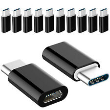 10 PACK Micro USB to USB 3.1 Type-C Data Adapter Converter For Samsung LG Google