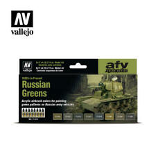 AIRBRUSH PAINTS - VALLEJO MODEL AIR - RUSSIAN GREENS (8 x 17ML) - 71613