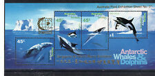 AUSTRALIA 1995-AAT ANTARCTIC WHALES AND DOLPHINS -SINGAPORE 95 MINI SHEET  MUH
