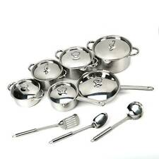 Induction Safe 15pc High Quality Stainless Steel Saucepan SautePan Cookware Set