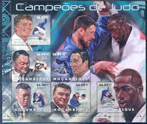 MOZAMBIQUE 2012 SPORTS JUDO CHAMPIONS SHEET OF 6