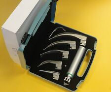 Ems Macintosh Laryngoscope Set, 5 pales en fibre optique avec tube de rechange * ce nouveau *