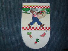 6 oven glove fabric pieces - Mary Engelbreit design Child with Vegetable Basket