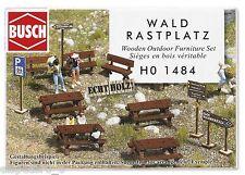 Busch 1484, Wald-Sitzgarnitur aus Echtholz, H0 Modellwelten Bausatz 1:87