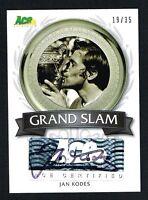 Jan Kodes signed autograph auto 2013 Ace Authentic LEAF Grand Slam 19 of 35