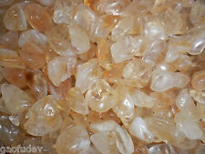 Tumbled Citrine Crystal Stone small size pieces 120 gram Lot