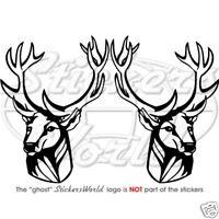 Buck Deer Head Stag Vinyl Sticker Window Decal x2