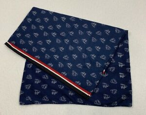 Tommy Hilfiger Cotton Blend Standard Pillowcase Nautical Blue Sailboat Print NEW