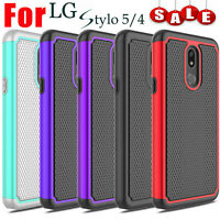 For LG Stylo 4,Stylo 5 Case Hybrid Armor Shockproof PC+TPU Dual Hard Phone Cover