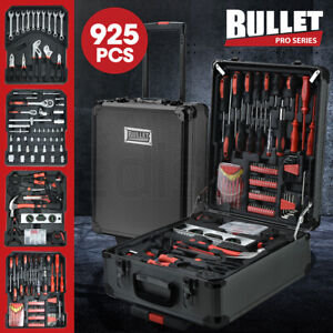 【EXTRA20%OFF】BULLET 925PC Tool Box On Wheels Kit Trolley Mobile Handle Set