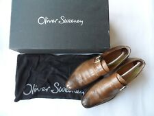 Oliver Sweeney Men's 'Rotella' cuero Marrón Monje Zapatos Talla 8 UK/42 EU/9 US