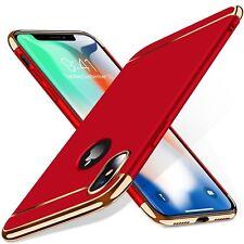 Matt Handyhülle Schutzcase Mit 5D Displayschutzglas iPhone X XS 7 8 Cover Tasche