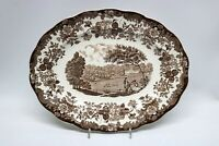 Royal Worcester Avon Scenes Palissy England Braun Platte 30 x 23,5 cm