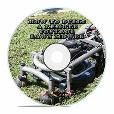 How To Build A Remote Control Lawn Mower, PDF Plans and Videos, Instructions
