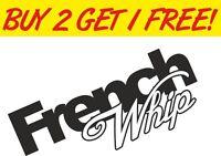 French Whip Window Graphic Vinyl Decal Sticker EURO PEUGEOT Renualt Citroen