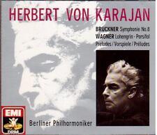 Bruckner: Sinfonia N.8; Wagner: Preludi da Lohengrin, Parsifal Karajan - CD Emi