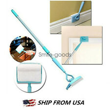 Baseboard Home Cleaning Mop Wall Glide Extendable Microfiber Dust Brush Kit