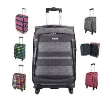 Highbury Luxury 4 Wheel Expandable Spinner Trolley Luggage Cases