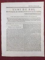 Journal Révolution Française 1791 Royaliste Nantes Colonie Bailly Ami du roi