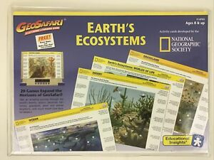GeoSafari Earth's Ecosystems Electronic Learning Game Pack 20 Game Card Vintage