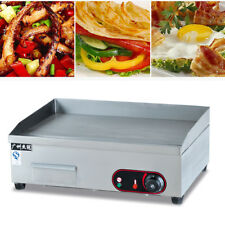 3000W Electric Countertop Griddle Flat Top Commercial Restaurant Grill BBQ USA
