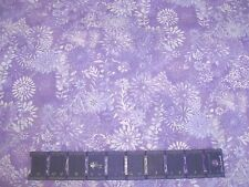 GARDEN FLOWERS PURPLE TONAL COUNTRY FIELD on COTTON FABRIC Priced By The Yard