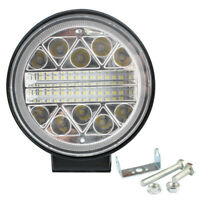 102W Round LED Strobe Work Lamp Offroad Car SUV Tractor Driving Fog Light