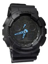 Casio G-Shock Mens Digital Wrist Watch GA100C-8A GA-100C-8A Dark Grey Blue New