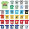 Kid Boy Cartoon Printed T shirt Short Sleeve O-Neck Summer Casual Cotton Tee Top