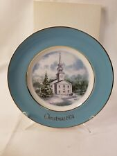 Vintage Avon 1974 Plate Country Church Wedgewood Enoch England 1112
