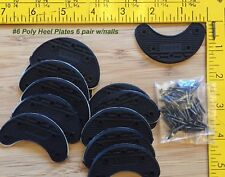 "6pr #6 ""Large"" Urethane Heel Plates (2  3/8in. wide) Quiet, saves wear on heels"