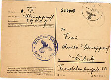 *Feldpost II. WK - 1942 * nach Lübeck (25)