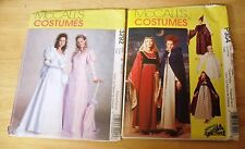 2 McCall's Medieval & Victorian Costume Patterns #3292 & P304  UNCUT