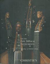 CHRISTIE'S MUSICAL GUITAR Martin Gibson Fender AMPIFIERS VIOLIN Gagliano Catalog