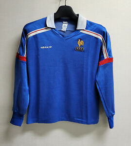 1986-87 France Home L/S 86-87 87-88 jersey shirt trikot