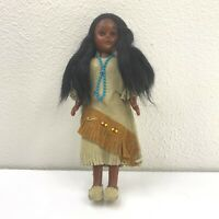 Vintage Alaska Eskimo Inuit Indian Hand Crafted Leather Souvenir Doll Figure