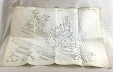 1890 Antique Map of Batley West Yorkshire Vicarage Grosvenor  Road Old Victorian