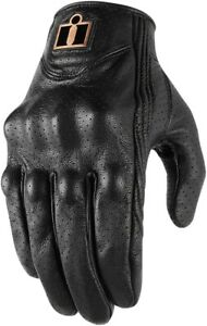 Icon Men's Pursuit Classic Perforated Motorcycle Gloves Black All Sizes